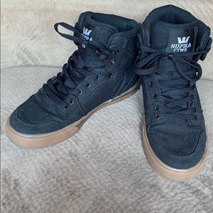 Supra Vaider black high top sneaker